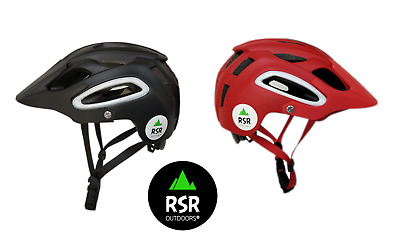 Bicycle Cycling MTB XCO Helmet Adjustable Mountain Bike CPSC Certified Red Black