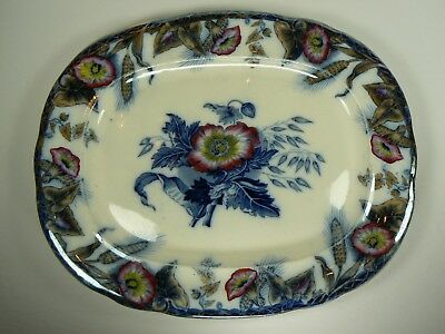 "Antique Ceres Davenport Transferware Hand-painted Platter 12.25"" x 10"" EUC"