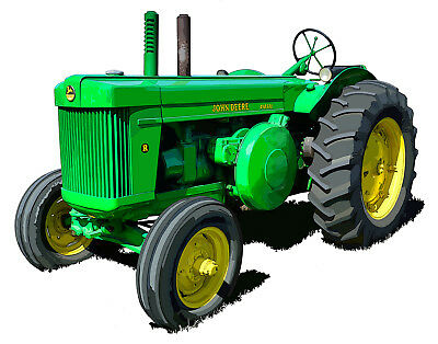 John Deere Model R - canvas art print by Richard Browne farm tractor
