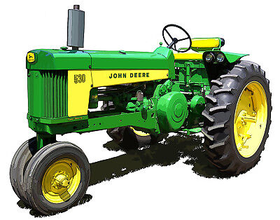 John Deere Model 530 canvas art print by Richard Browne farm tractor