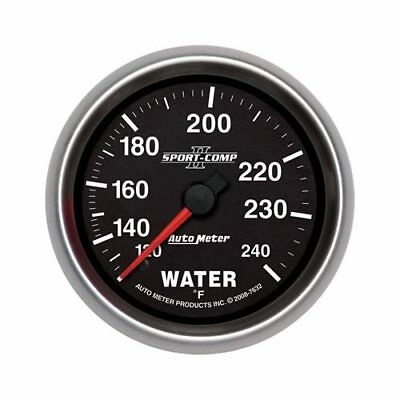 "Autometer Sport-Comp II Mechanical Water Temperature Gauge 2 5/8"" Dia 7632"