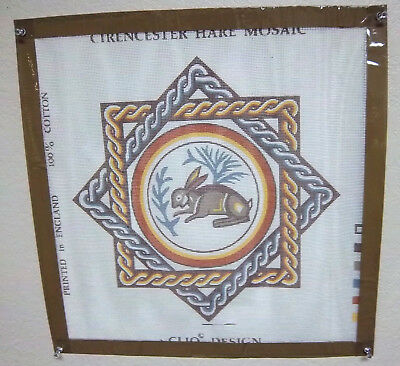 Clio Design Needlepoint canvas, Cirencester hare Mosaic Tapestry kit with thread