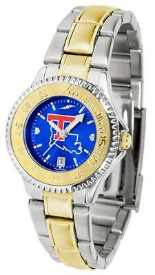 Louisiana La Tech Ladies Stainless Steel and Gold Tone Watch