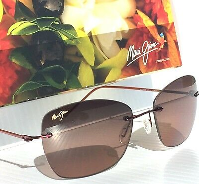 8a9329b6d6df NEW* Maui Jim APAPANE Rimless w Rose POLARIZED Lens Women's Sunglass RS717- 07