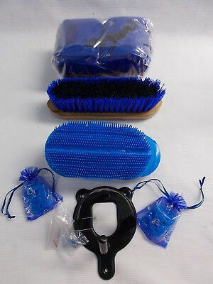 Blue / Black Brushes - Bandages - Bridle Bracket - All New