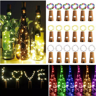 Cork Shaped 50/30/20LED String Fairy Night Light Wine Bottle Lamp