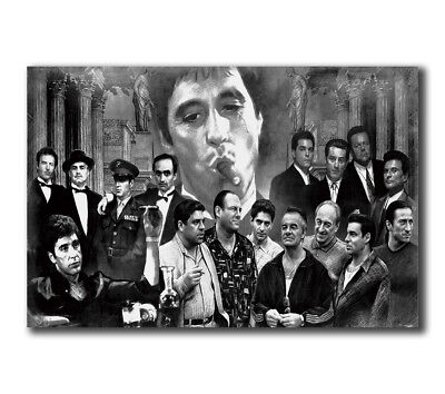 T-254 Art Poster Gangsters Godfather Goodfellas Scarface Sopranos Movie Hot Silk