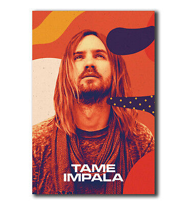 F-865 Kevin Parker Tame Impala Rock Music Star Hot Fabric Poster