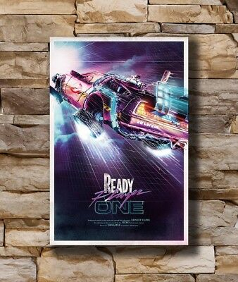 Hot Ready Player One 2018 Back To The Future Movie Art Poster 12x18 24x36 T-587