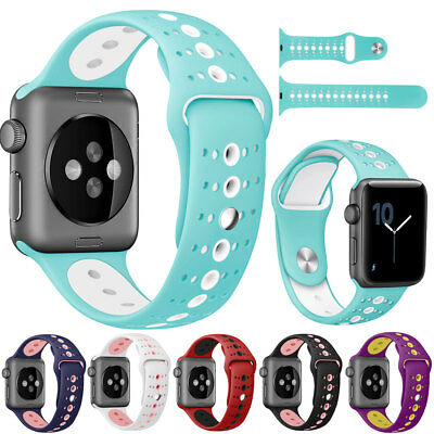 Replacement Silicone Sport Watch Band Strap for Apple Watch iWatch 40 44mm 38 42