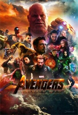 Art Poster Avengers Infinity War Movie Marvel Comics Film Print Silk 24x36 T-255