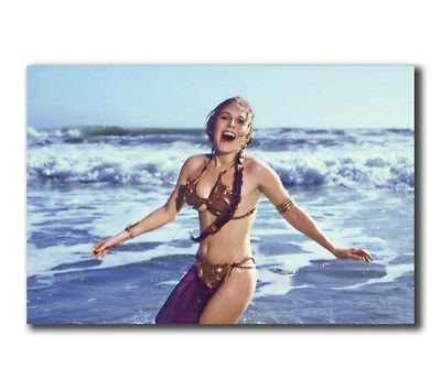 """T-762 Art Poster Leia Slave Outfit Star Wars Movie Carrie Fisher Hot Silk 27x40"""""""