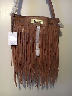 7030ca252c BEAUTIFUL CALVIN KLEIN Fringe Hobo Tote Reversible Bag With Pouch ...