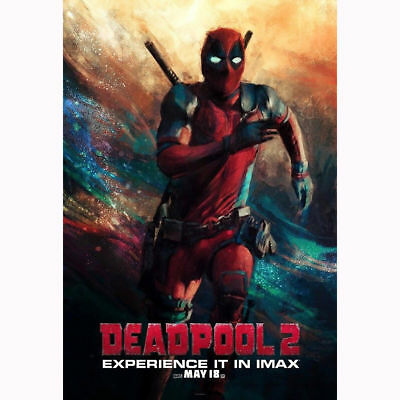 Hot Fabric Poster Deadpool 2 2018 Movie Superhero New Swimming 40x27inch Z1803