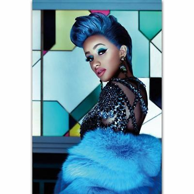 Art Poster Cardi B American Fashion Female Rapper 14x21 24x36 Hot Y113