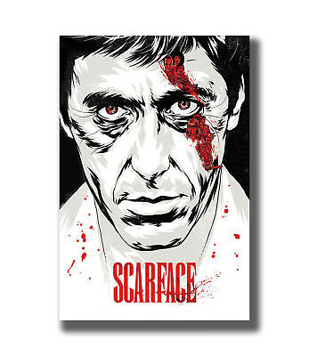 Classic Fighting Movie Pacino Scarface Actor Fabric Poster Art TY755 - 24x36 Inc