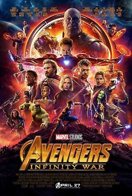 Avengers Infinity War Movie Poster 14x21 27x40 Marvel Comics Film Print  001