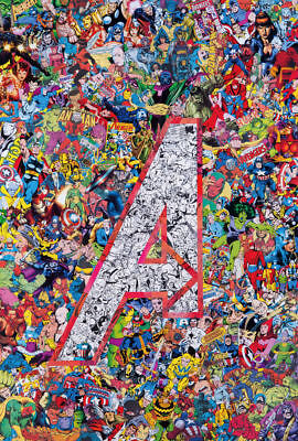Art Poster The Avengers Marvel All Superheroes Comic Collage 14x21 24x36 Y3837