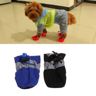 4Pcs Pet Warm Non-slip Shoes Winter Cat Dog Snow Boots Puppy Waterproof Booties