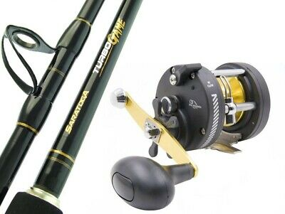 SARATOGA TURBO Game 5'6 15kg Big Overhead Fishing Rod and Reel Trolling Combo