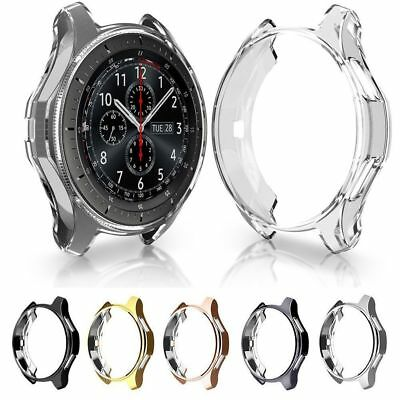Soft TPU Electroplated Protective Bumper Shell Cover Case for Samsung Gear S3