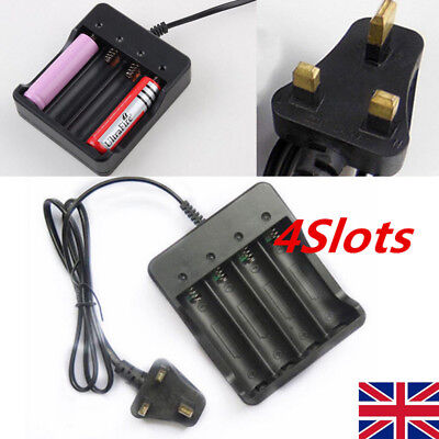 18650 3.7V Li-ion Rechargeable 4 Slots Battery 4x 3.7v 18650 Charger Plug