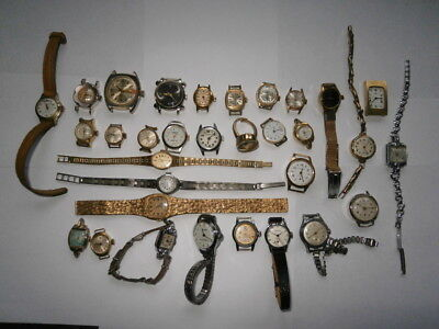 Job lot of vintage ladies watches mechanical watches spares or repair swiss made
