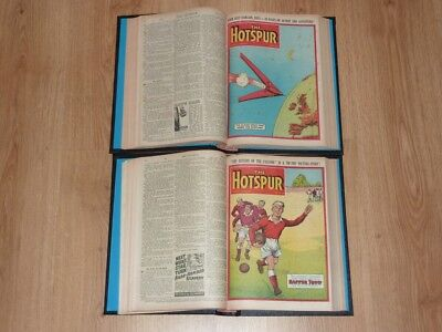 The Hotspur Comics - 2nd Jan to 25th Dec 1954 - Full Year 2 Bound Volumes