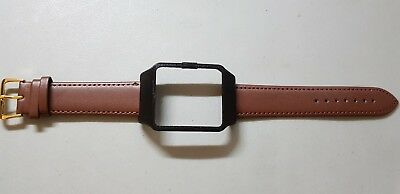 Sony SmartWatch 3 SWR50  Black Housing & Brown Calf Leather Strap