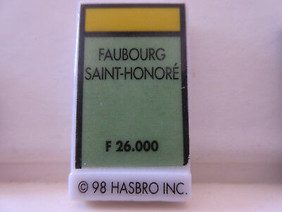 "Feve De Collection A L'unite "" Monopoly 1998 "" Faubourg St Honore  Plate N°1798"