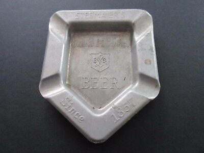 Vintage Estate STEGMAIER'S Gold Medal Beer Aluminum Bar Ashtray Wilkes Barre PA