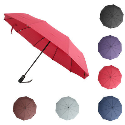 Women's Men's Compact Umbrella Automatic Open Close Folding Windproof Travel
