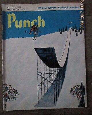 Vintage Punch Magazine Issue Date 2Nd February 1966 - Used
