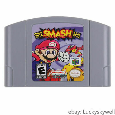 For Nintendo N64 Video Game Cartridge Console Card Super Smash Bros US Version