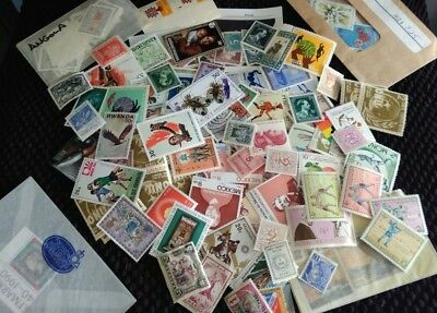 Assortment of 100 MINT Worldwide Foreign Stamps Collection - Lot plus BONUS
