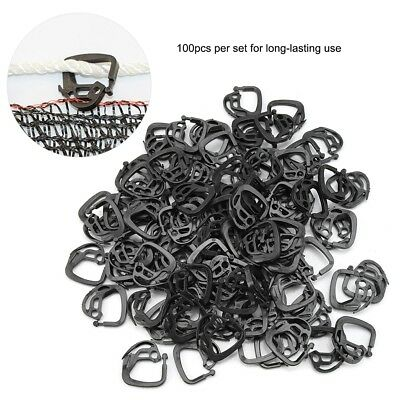 100Pcs Black Shading Net Hook Clips Holder Fasten Shading System Hook Greenhouse