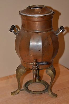 Frary & Clark 1907 Copper Percolator Coffee Pot Landers, No Burner 409 Vintage