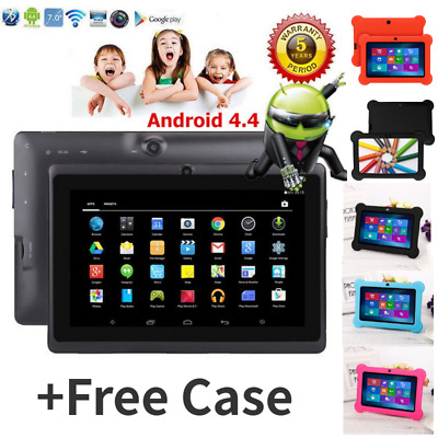 7″ INCH KIDS ANDROID 4.4 TABLET PC QUAD CORE WIFI Camera UK STOCK CHILD LOT MI#