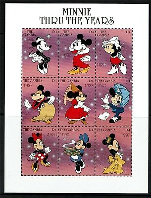 Gambia 1997 Minnie Mouse Sheet SG 2549a MNH