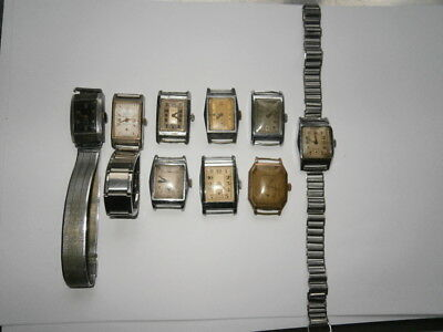 Job lot of vintage Art Deco gents watches mechanical watches spares or repair