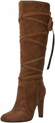 42c18240aa3 Vince Camuto Women s Millay Suede Knee High Slouch Boots Show Down Brown