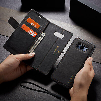 For Samsung Galaxy Note 9 S9 S8 Magnet Leather Removable Wallet Stand Case Cover
