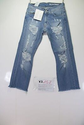 Levis 506 Denim Customized (cod. WB157) jeans tg.43 W29 DONNA Strappato Remake