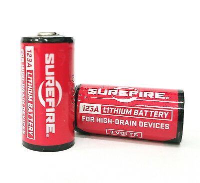 Pack of 2 Surefire CR123A Lithium Battery 3v EXP. 11/2027 *MADE IN USA*  0084871