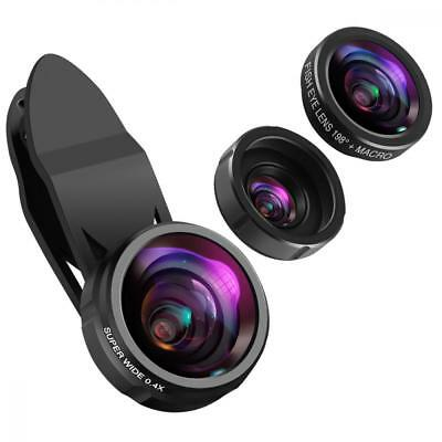 KeeKit Phone Camera Lens, Lens for iPhone, 198° Fisheye + 0.4X Wide Angle +...
