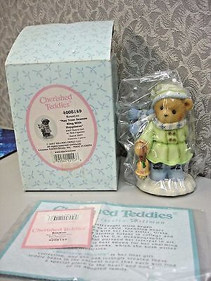 Cherished Teddies Rosa Lee May Your Season Ring With Happiness 4008149