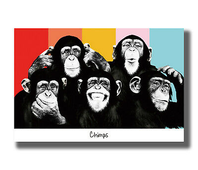 FUNNY MONKEY POSTER Don/'t Swallow Your Gum NEW 24X36