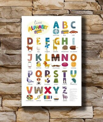 T-335 Art Poster My ABC Alphabet Learn table 1 Hot Silk 24x36 27x40IN