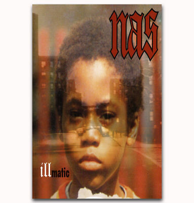 Illmatic Nas Cover Poster 14x21 24x36 The Best Rap Hip Hop Album Of All Time 341