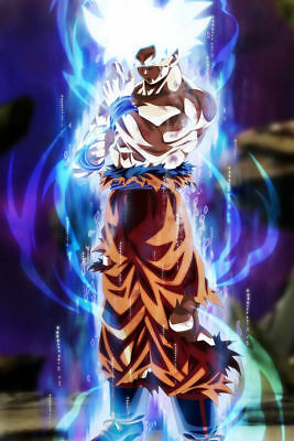 24x36 14x21 40 Poster Dragon Super Goku from Normal to Ultra Art Hot P-620